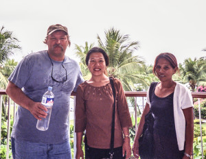 living in the philippines, my wife and I with a chaperone