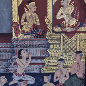 Buddhist Tapestry, Wat Pho Temple, Bangkok