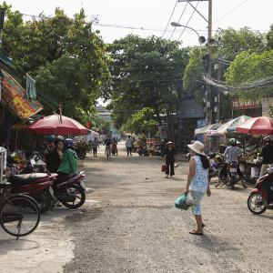 Local market place Ho Chi Minh City District 9