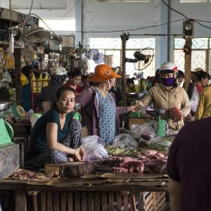 Fresh meat at Phan Rang fresh market