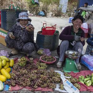 Fresh grapes Phan Rang fresh market