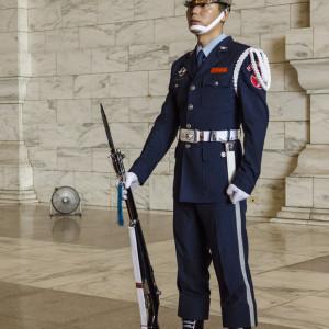 Guard at Chiang Kai-shek statue