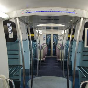 Hong Kong train back to the international airport